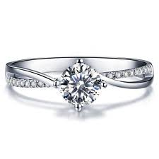 verlobungsring brilliant ringe aus weißgold mit diamanten ebay
