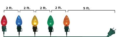 home accents holiday 20 in giant c7 multi color pathway lights