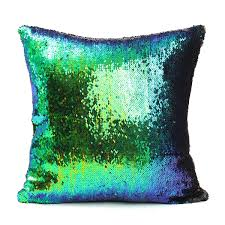 Bee Home Decor by 40x40cm Mermaid Magical Color Change Fashion Fabrics Sequin Pillow