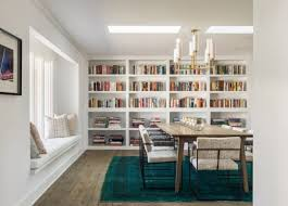 trendy duo dining room u0026 library bookshelves