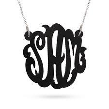 monogram acrylic necklace acrylic monogram necklace s addiction