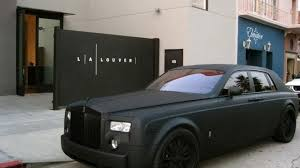 matte black car matte black rolls royce phantom menace