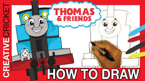 draw thomas tank engine coloring thomas