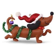 wiener festive ornament keepsake ornaments hallmark