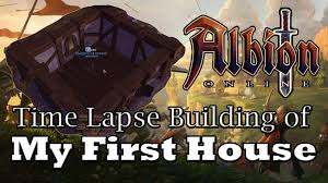 Build My House Online by Albion Online House Build Time Lapse Youtube