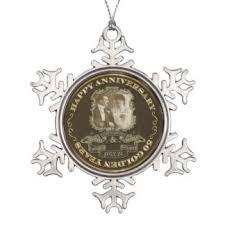 50th wedding anniversary ornaments keepsake ornaments zazzle