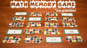 math memory games printables activities for kids adventures in