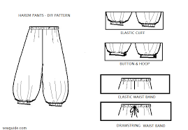 stylish harem diy pattern to sew them sew guide