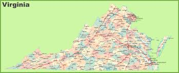 virginia map road map of virginia with cities