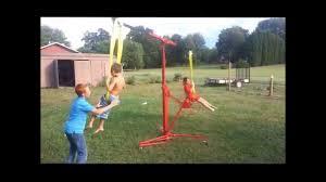 easy diy children u0027s backyard carnival swing ride youtube