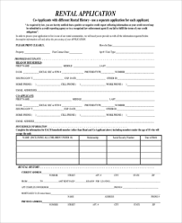 rent application sample 9 free documents in word pdf