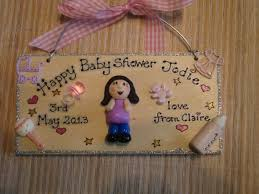 personalised 3d baby shower sign wooden plaque keepsake any