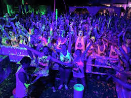 neon party big foot events club and student nights uv paint neon