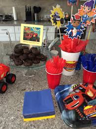 blaze and the monster machines party food idea liquorice as tow