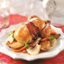 roasted cornish hens with vegetables recipe taste of home