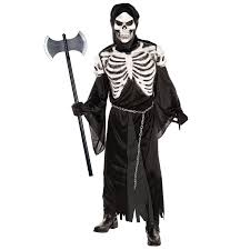 mens grim reaper skeleton crypt keeper halloween fancy dress