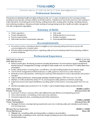 Professional Mechanical Engineer Resume Safety Professional Resume Resume For Your Job Application