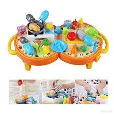 jouet cuisine pour enfant 31 pièces jeu d imitation ustensiles jouet de cuisine pour enfants