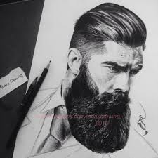 beard men pencil on behance