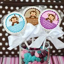 lollipop party favors monkey personalized lollipops baby shower favors baby shower