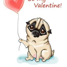 pug printable greeting card instant from fenekdolls on etsy