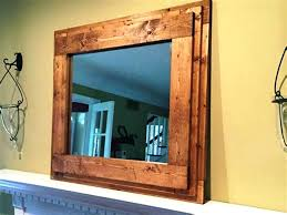 Large Framed Bathroom Mirror Wooden Framed Bathroom Mirrors Nxte Club