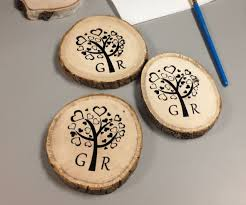 wedding coasters diy screen printing on wood coasters for wedding gift 12 steps