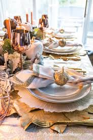 Fall Table Settings Beautiful Gold And Copper Fall Table Setting