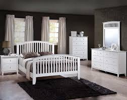 white finished wood slatted headboard lawson white bedroom set