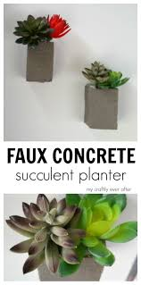 faux concrete succulent planters my craftily ever after