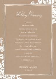 classic wedding programs walmart stationery shop wedding programs