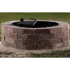 pit kit shop belgard firepit kit 55 in w x 55 in l rivers edge concrete