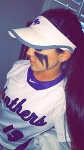 Softball Halloween Costumes Softball Eyeblack Pictures Softball Hair