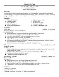 Restaurant Manager Sample Resume Cover Letter Business Owner Resume Examples Business Owner Resume