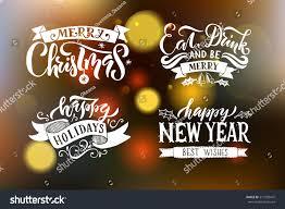 merry happy new year happy stock vector 517299475