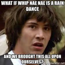 Nae Nae Meme - what if whip nae nae is a rain dance and we brought this all upon