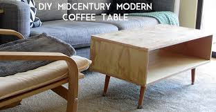 diy midcentury modern coffee table eye for diy