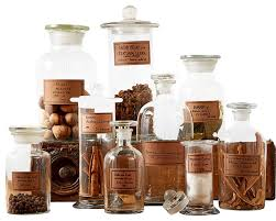 decorative apothecary jars bathroom