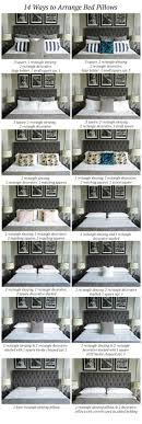 how to place throw pillows on a bed arrangement and sizing for pillows on queen and king bed www