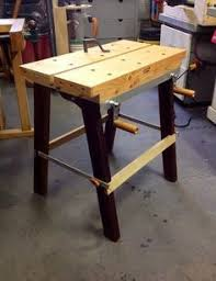 Portable Work Bench Folding Portable Workbench With Quick Release Vise Portable