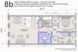 best townhouse plan for new construction u2013 u201c u00278b u0027 u2013 shared party