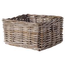 storage unit with wicker baskets byholma basket 9 x11 x6