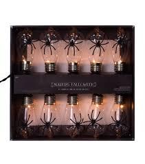 halloween light strings maker u0027s halloween 10 count edison bulb string lights spider joann