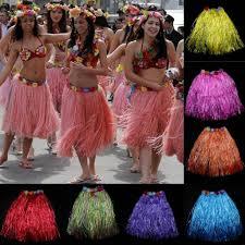 party grass skirt women fashion hawaii dance show performance