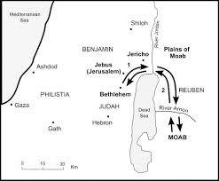 Map Of Canaan The Bible Journey Ruth U0027s Journey To Bethlehem