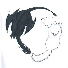 yin yang wolf and by shadowwolfox on deviantart
