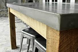 concrete and wood outdoor table outdoor archives concrete wave design concrete countertops