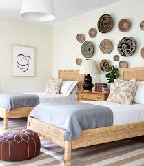 sarah bartholomew this guest bedroom uses basket art to create a focus wall sarah