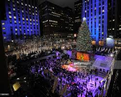 rockefeller center christmas tree lighting photos and images