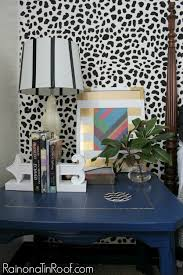 Guest Bedroom And Office - easy to do leopard accent wall